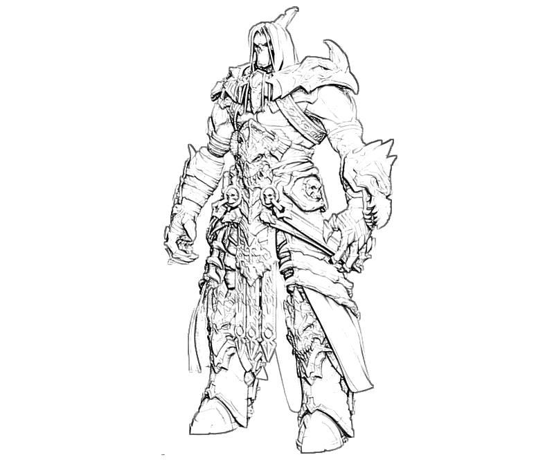 Darksiders Death Coloring Pages