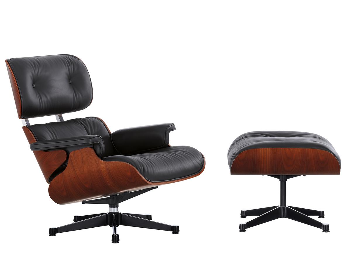 Vitra Lounge Chair & Ottoman Limited Edition Mahagoni