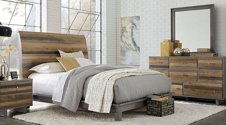 Moss Creek Gray 7 Pc Queen Sleigh Bedroom  Queen Bedroom Sets Prepossessing Bedroom Sets Queen 2018