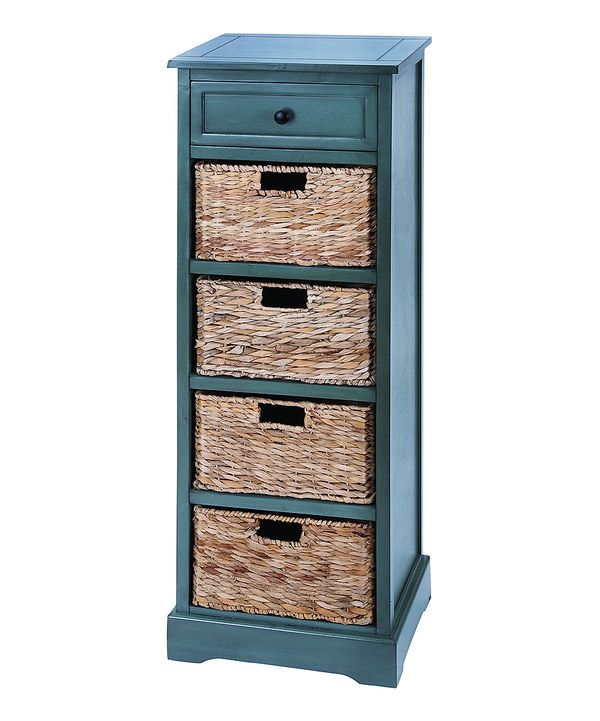 Look At This Blue Wicker Basket Storage Cabinet On Zulily Today
