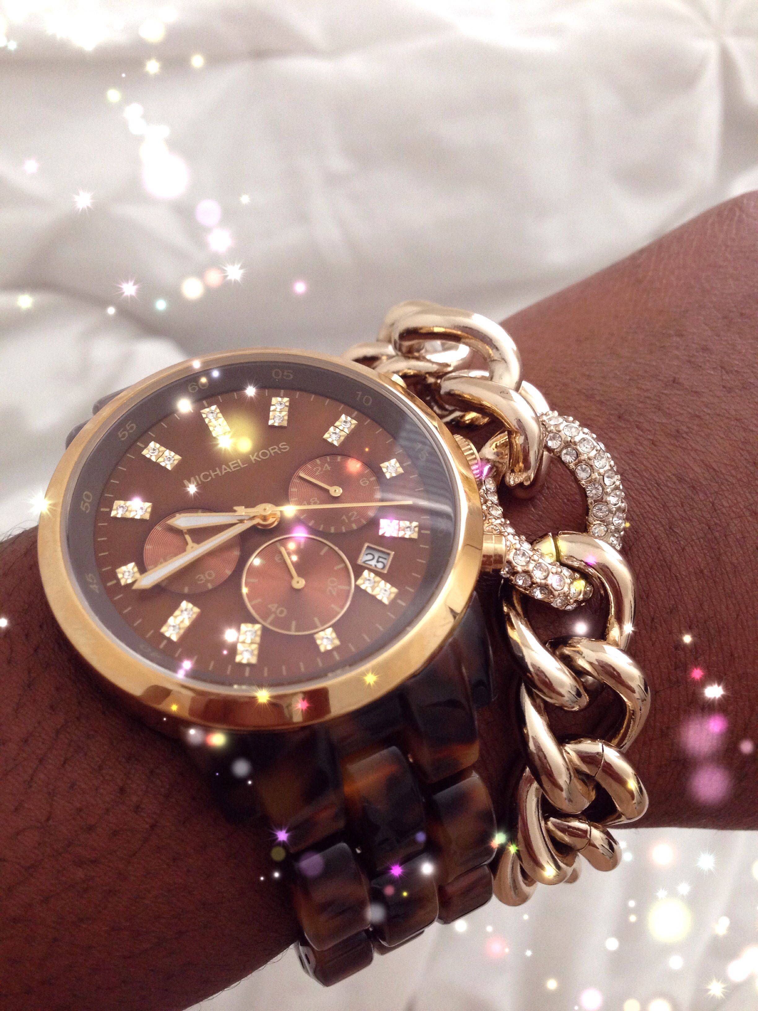 Michael kors watch u victoriaus secret bracelet jewelry is a girls