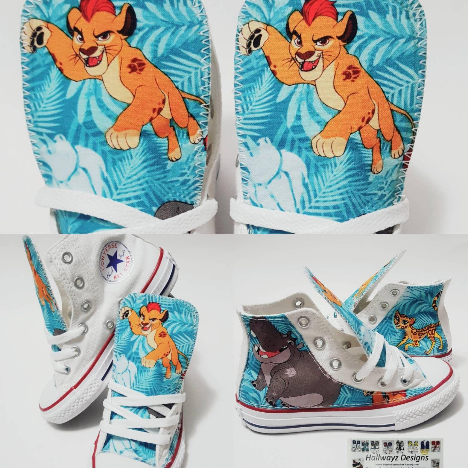 Disney Lion Guard lion king Converse shoes custom white