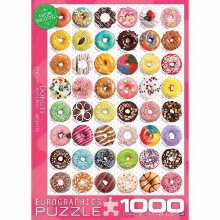 EuroGraphics Donuts 1000-Piece Puzzle, Multicolor