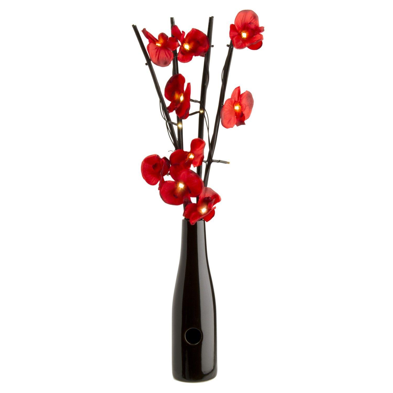 Buy 16 Led Red Orchid Flower Lights In Vase 699