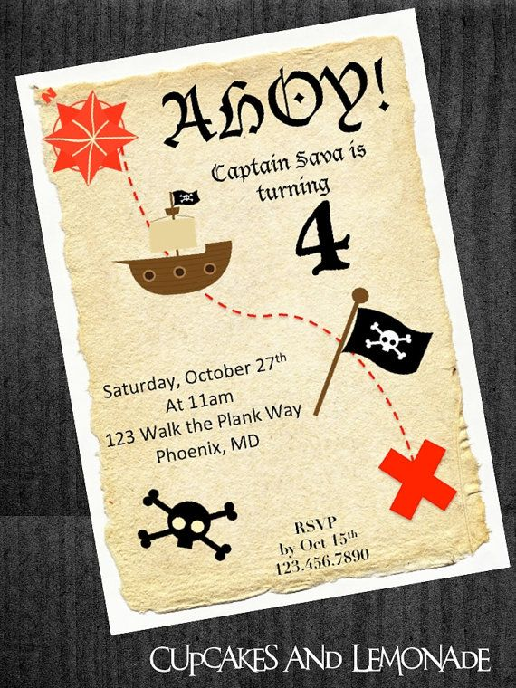 Pirate treasure map birthday invitation by cupcakesnlemonade pirate treasure map birthday invitation by cupcakesnlemonade 1000 stopboris