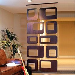 wow, i love this hanging room divider! great shapes, great variety