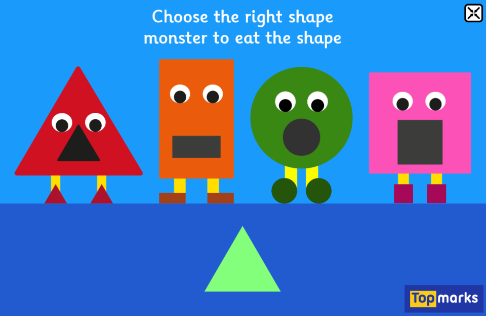 Shape Monsters - 2D Shapes Matching Game for 2-5 year olds | Maths ...