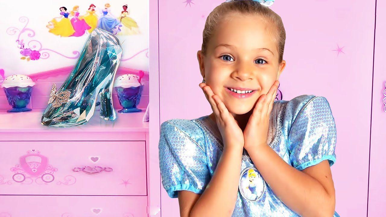 ديانا و روما مفاجأة للأميرة سندريلا Youtube Diana Princess Cinderella Princess