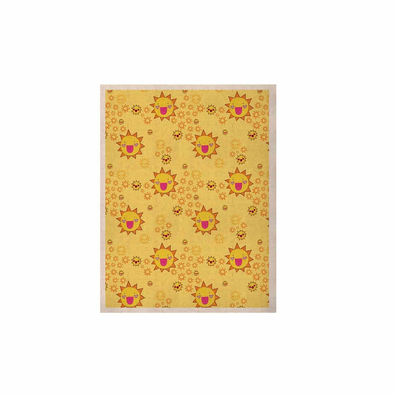 "Jane Smith ""It's All Sunshine"" Yellow Pattern KESS Naturals Canvas (Frame not Included)"