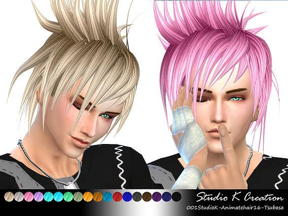 Hairstyles Updates: Akira Animate Hair 16 At Studio K-Creation Via Sims 4