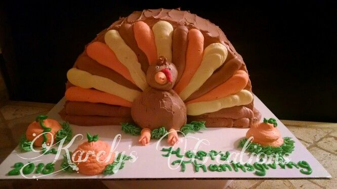 Turkey cake thanks giving