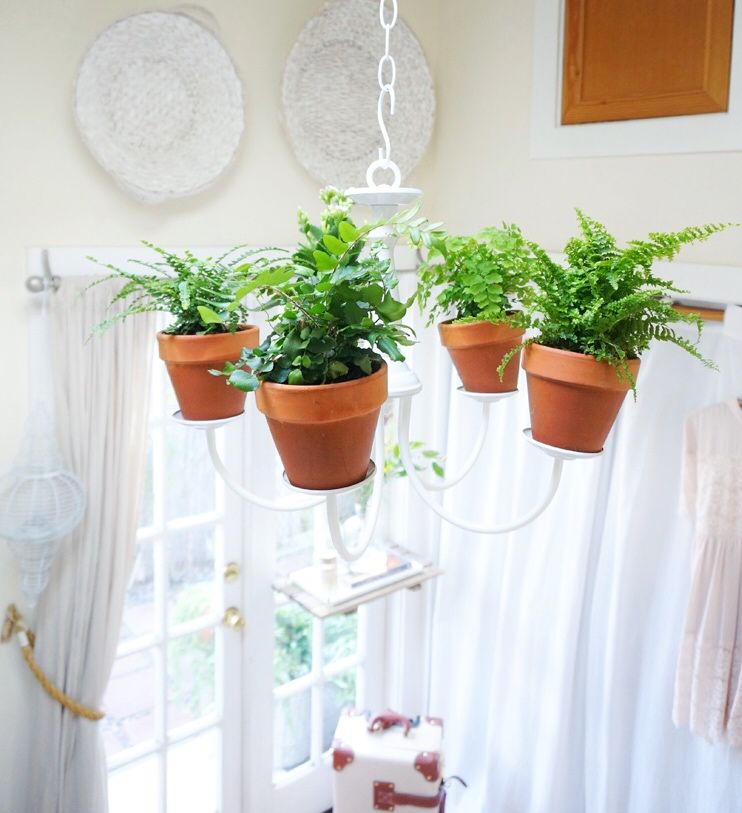 Cottage Bedroom Garden Chandelier — The Tiny Canal Cottage