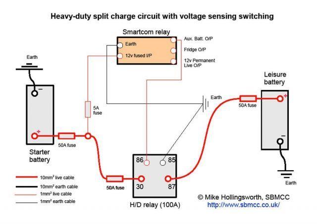 H  D Split Charge Circuit Diagram