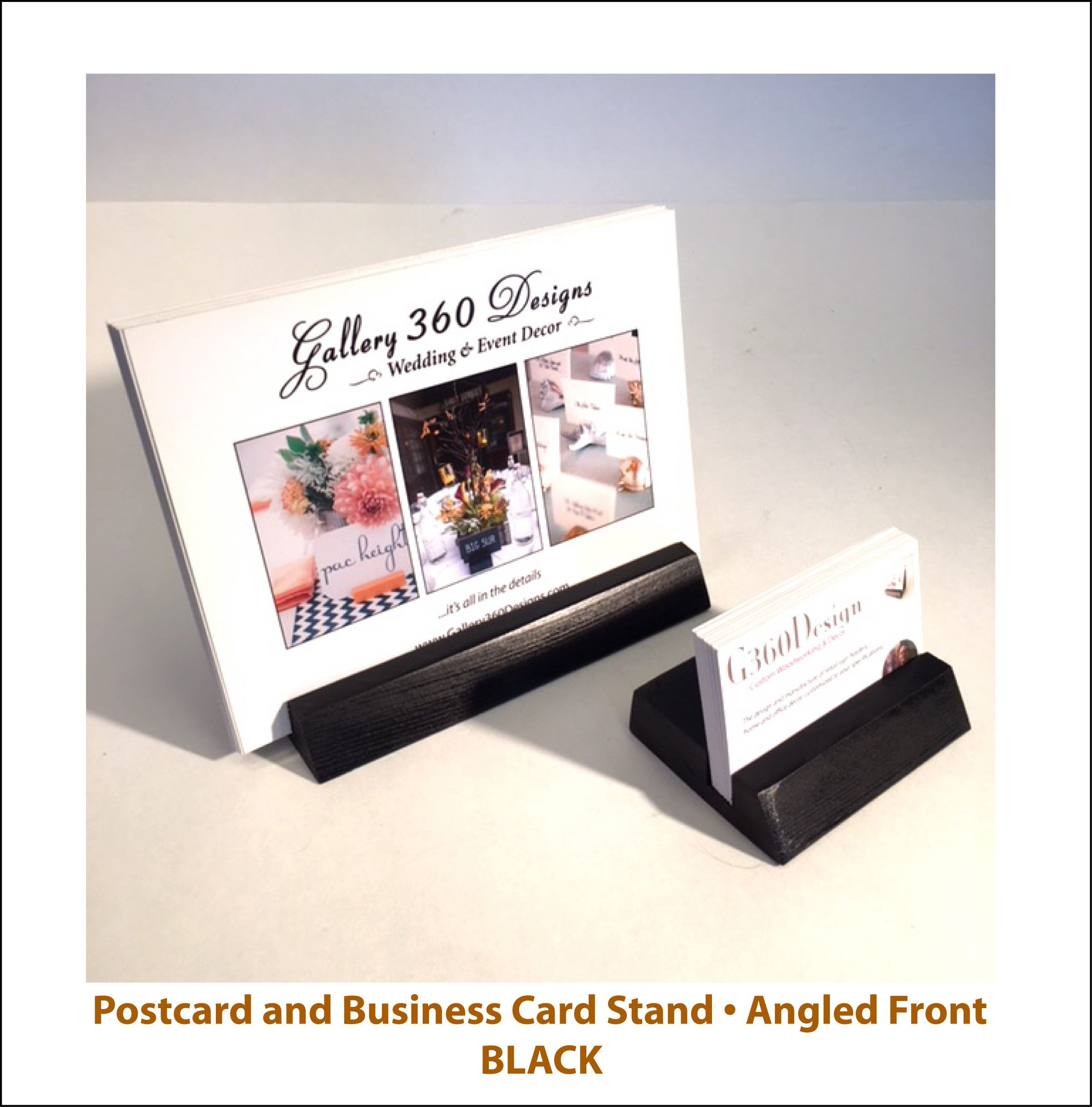 Business card postcard stand sign stand rustic wood office desk business card postcard stand sign stand rustic wood office desk stand set of reheart Gallery