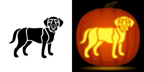 pumpkin template labrador  Pin by Muse Printables on Pumpkin Carving Stencils in 7 ...