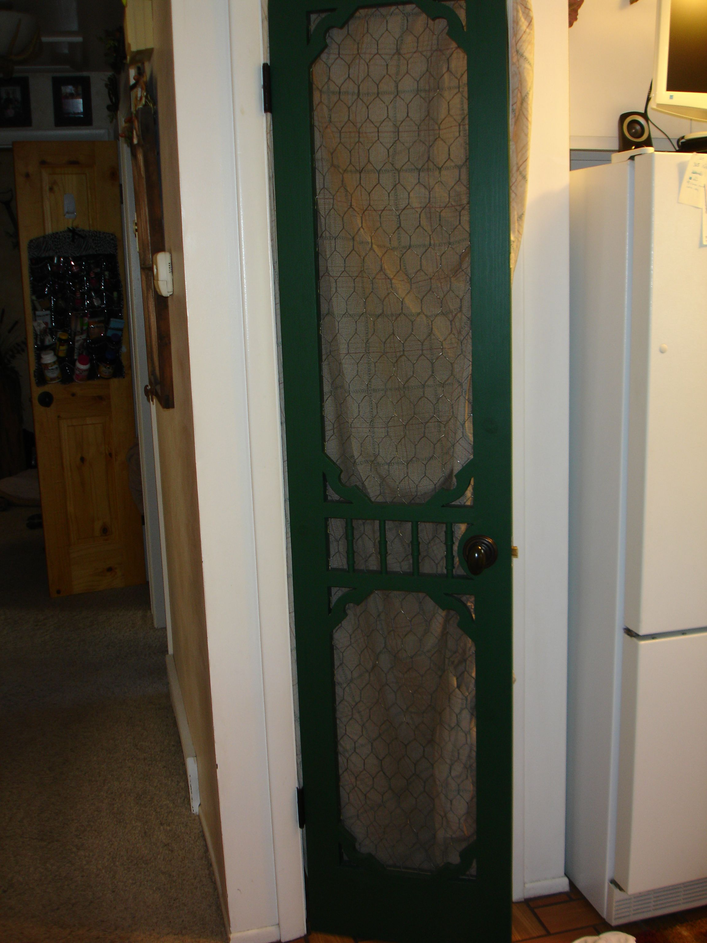 Chicken wire pantry door & Chicken wire pantry door | Made by ME! | Pinterest | Chicken wire ... Pezcame.Com