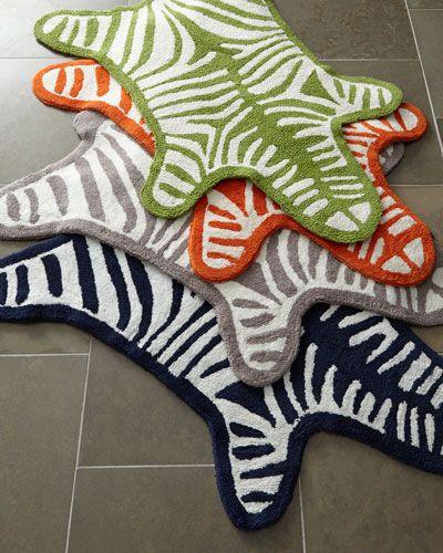Zebra Bath Mat Jonathan Adler Powder Room Pinterest - Zebra bath mat for bathroom decorating ideas