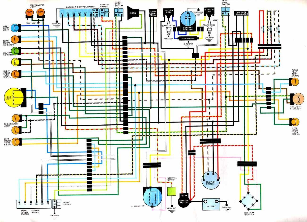 1976 cb360 wiring diagram  [ 1300 x 944 Pixel ]