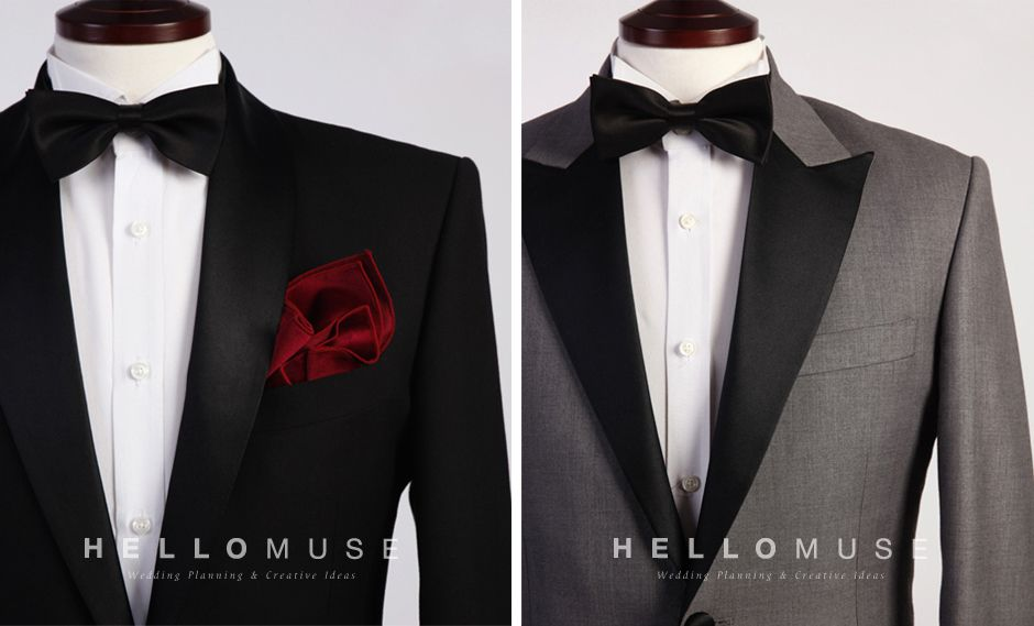 basic black and gray color tuxedo and suit for rental service in ...