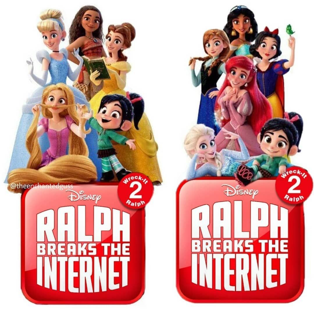 New Poster Of Ralph Breaks The Internet Wreckitralph2 Ralpbreakstheinternet Ralph Cinderlla Moana Belle R Merida Disney Disney Fun Disney Princess Facts