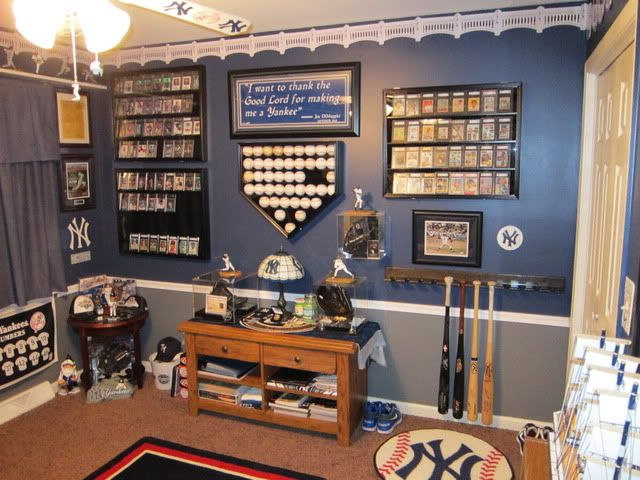 Yankees Man Cave Decor : Post subject almost completed the ultimate yankee room