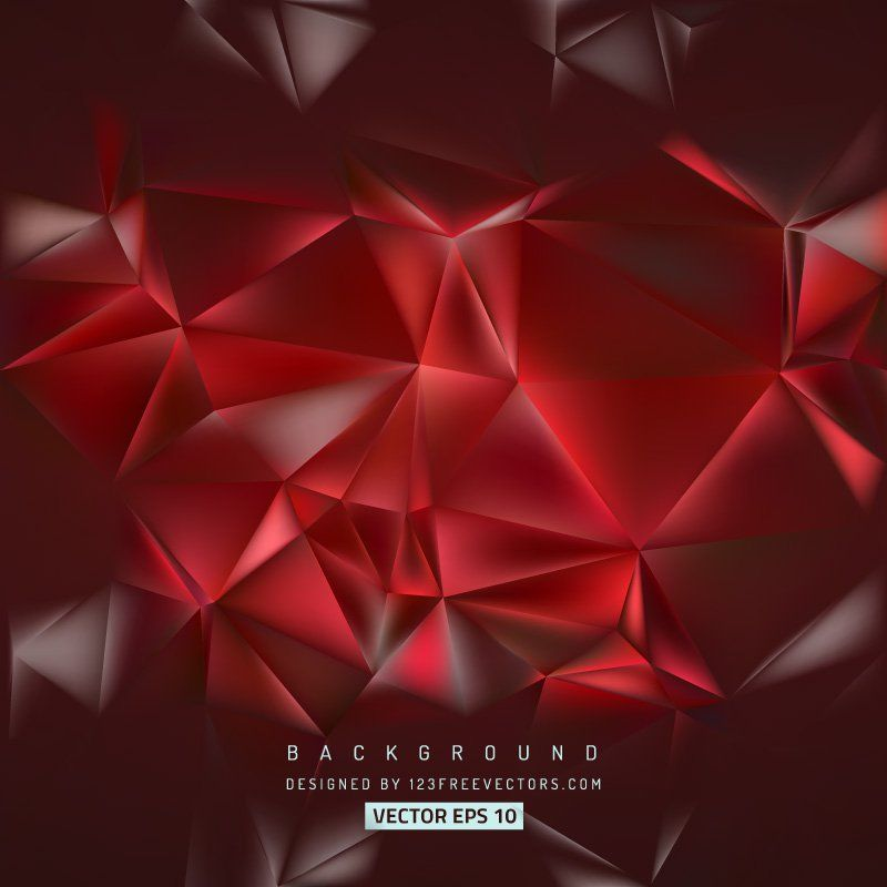 Abstract Dark Red Polygon Background Template Abstract Red
