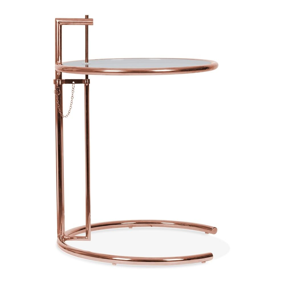 Eileen Gray Tisch Eileen Gray Style Side Table Copper And Tinted Glass Retro