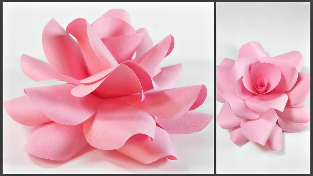 Paper Flowers Rose Diy Tutorial Easy For Childrenorigami Flower