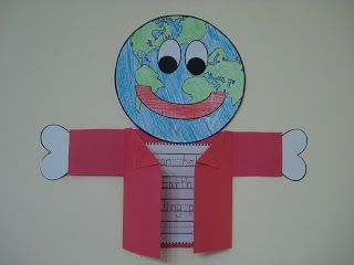 Earth Day art project for students with a writing prompt