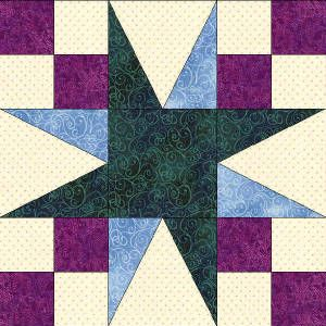 North Carolina Red Blue Quilts Individual Blocks