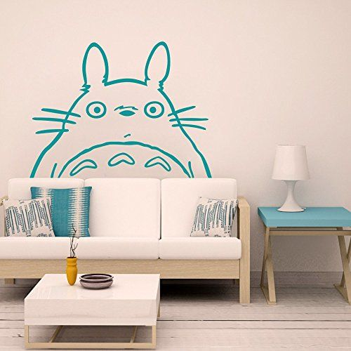 Totoro Inspired Totoro Head Vinyl Wall Decal Totoro Wall ...