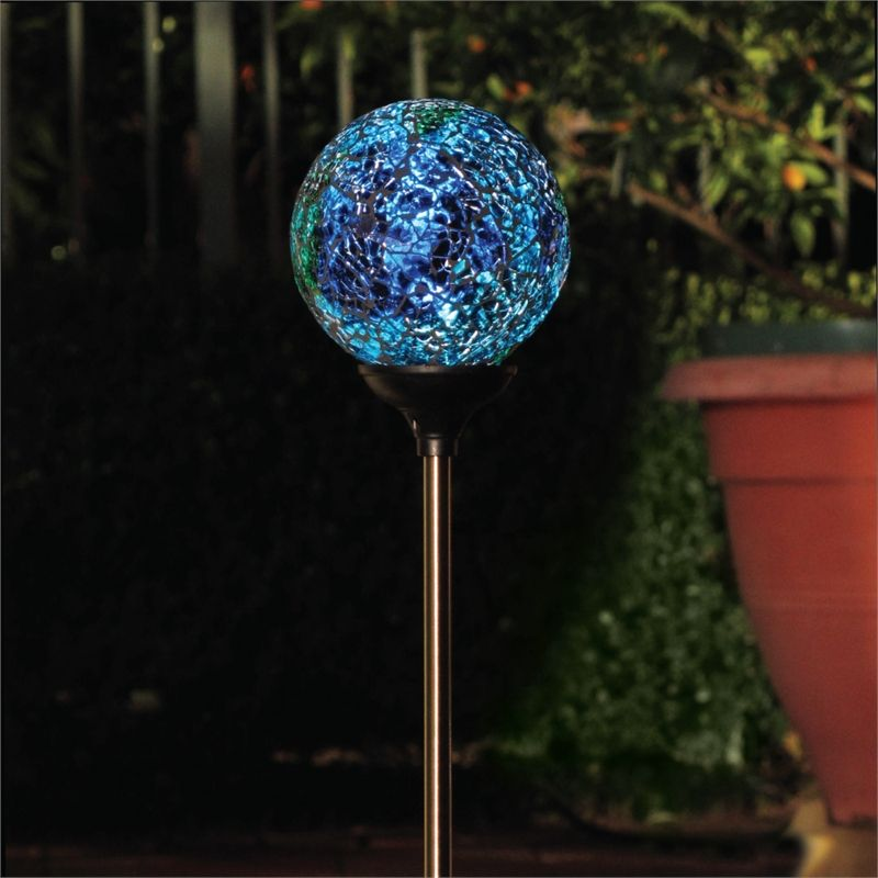 Lytworx stainless steel and glass shatter ball led solar light i n 4351391 bunnings