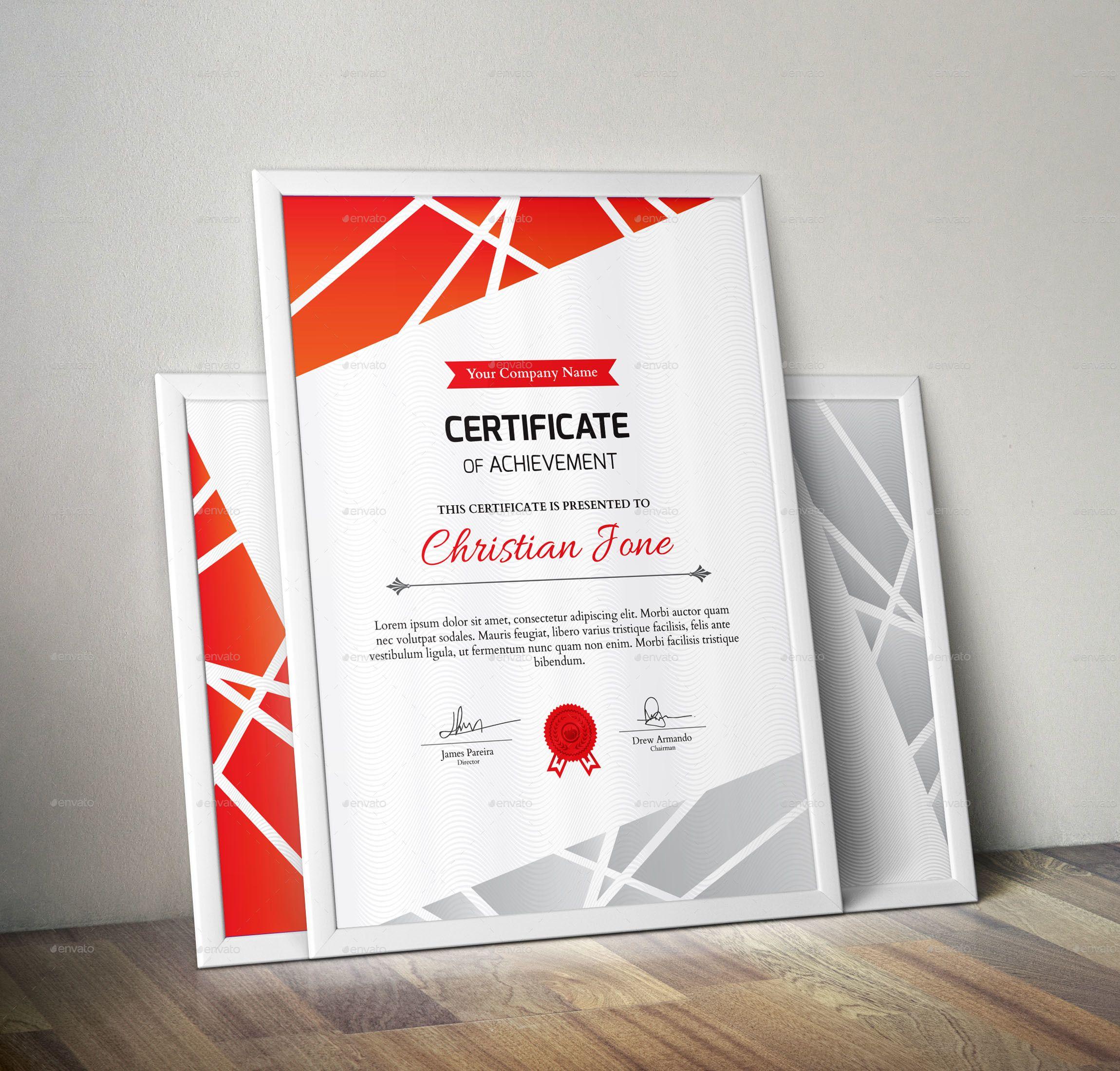 Certificate Certificate Design Certificate Floral Typography