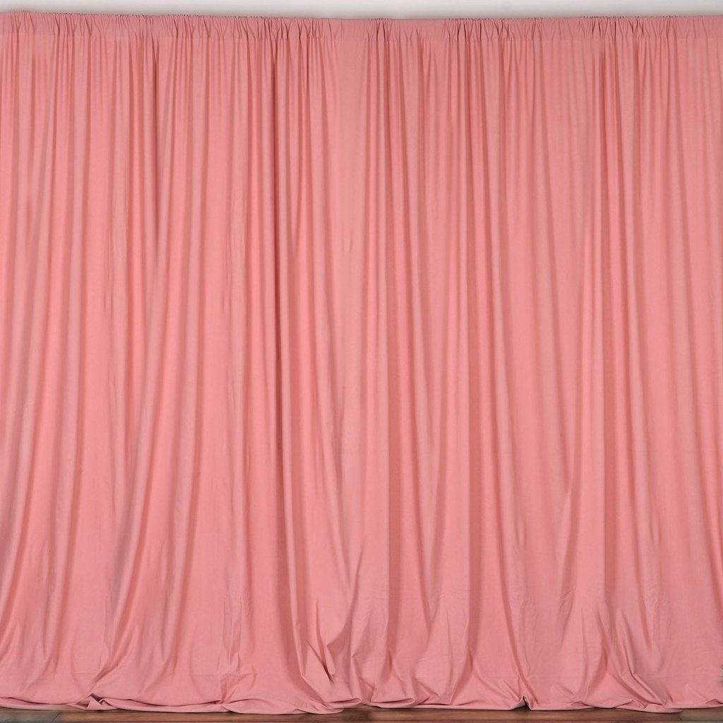 Pack Of 2 5ftx10ft Rose Quartz Fire Retardant Polyester Curtain Panel Backdrops With Rod Pockets Curtains Panel Curtains Backdrops