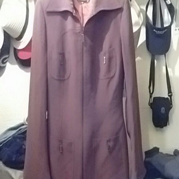 NWT Career Blazer Annie Reva Blazer bought from Lehmann's fabric from Italy beautiful brown lining  slight flare and slit on cuffs 4 front pockets full zip and name plate. Dry Clean Only still has tags $349.99 Annie Reva Jackets & Coats Blazers