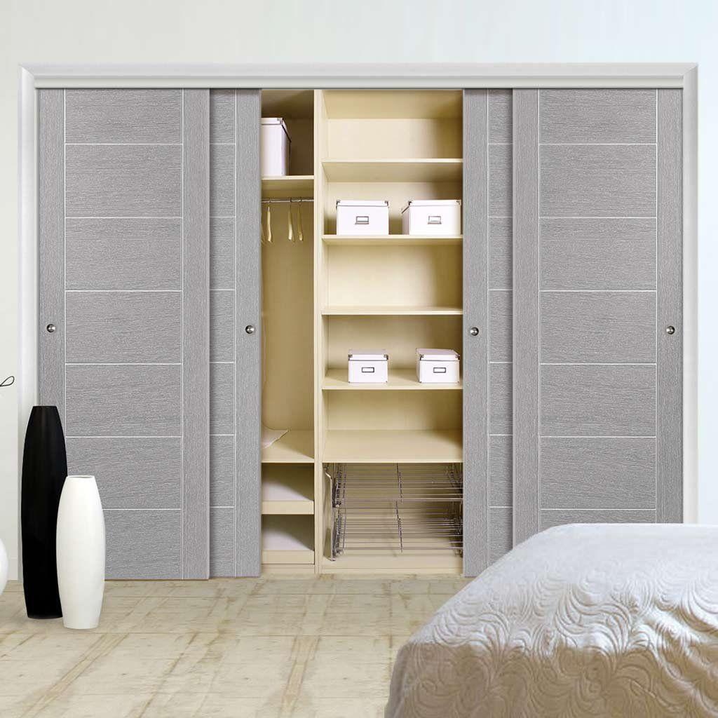 Pin Op Grey Doors