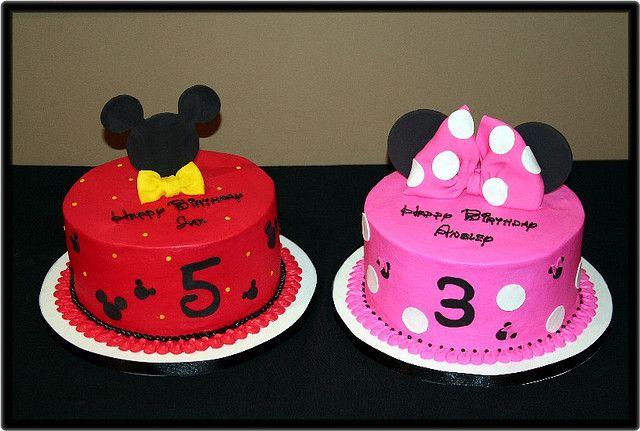 Remarkable Mickey Minnie Bday Party Mickey Birthday Cakes Minnie Funny Birthday Cards Online Overcheapnameinfo