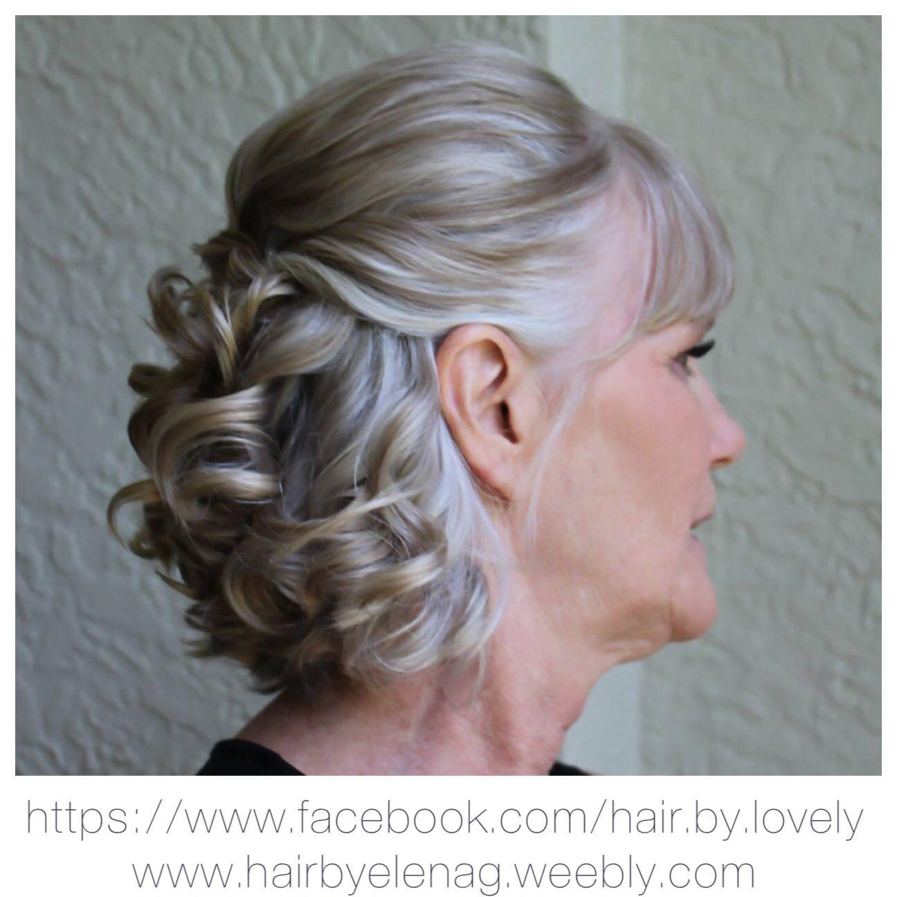 bridal hair, wedding hair, mother of the groom | modern