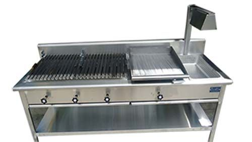 Grill Freidora De Papas Plancha Kitchen Table Stainless Steel