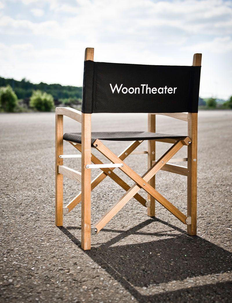Regisseurstoel Met Zwarte Stof En Teak Karkas This Chair Is Fully Customizable Woontheater Woontheater Regisseursstoel Outdoor Living Zwarte Stof