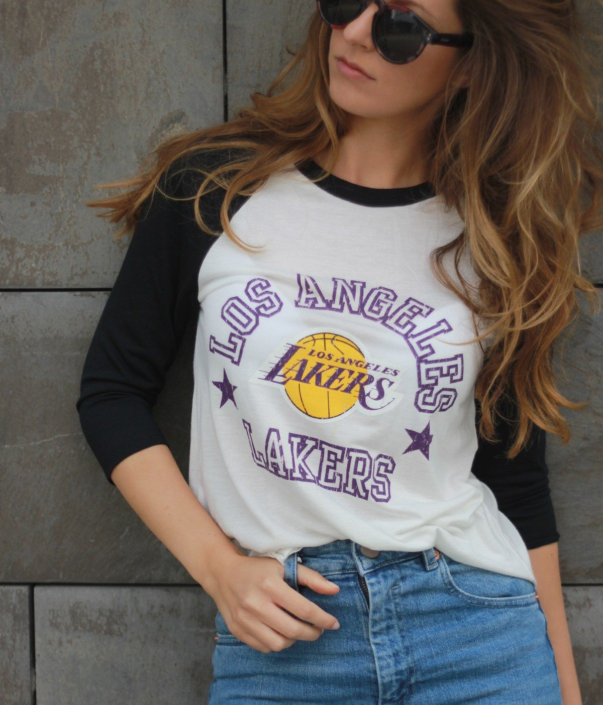 California Girl At Heart Lakers outfit, Lakers shirt