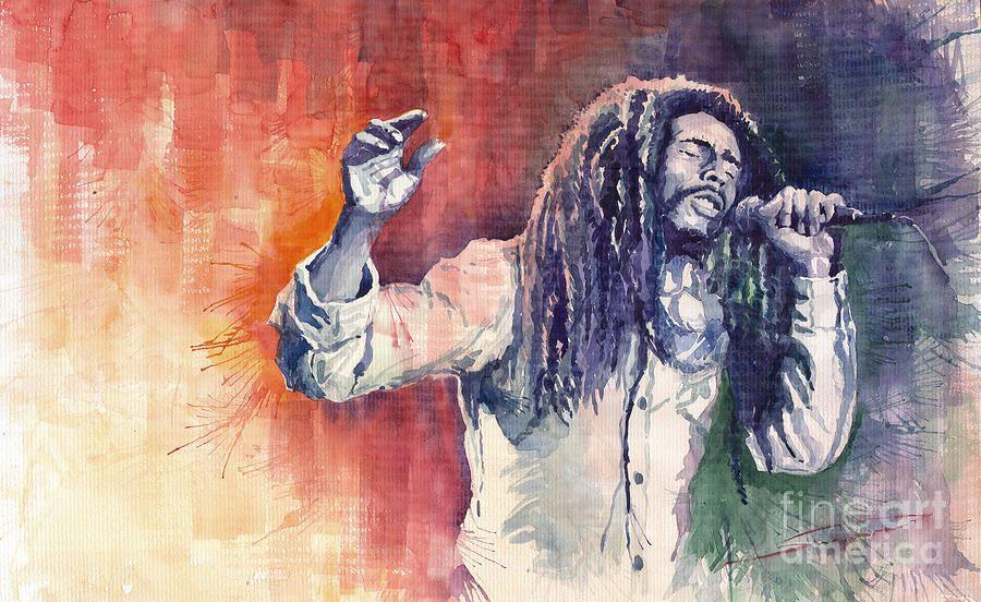 Bob Marley 01 by Yuriy Shevchuk.   Fine Art   Pinterest   Arte