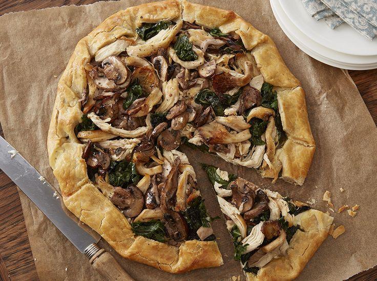 Chicken Mushroom Swiss Chard Galette | Recipe | Stuffed ...