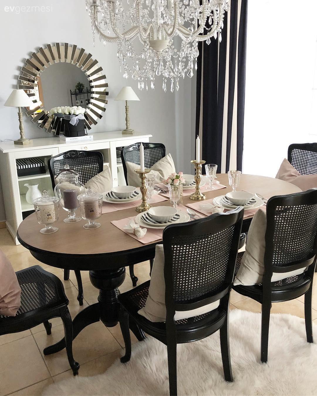 Salon Ahşap Mobilya Yemek Odası Siyah Konsol Kendinyap Mobilya