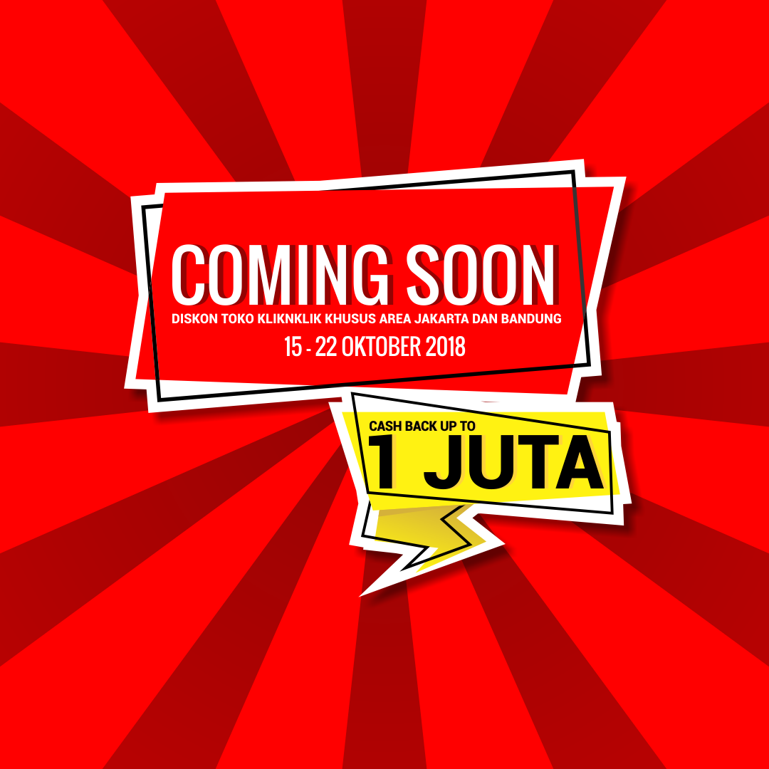 Jangan sampai ketinggalan, toko Kliknklik Jakarta dan
