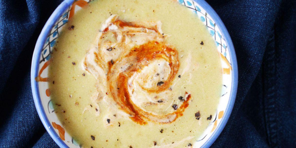 corn soup with chipotle sour cream  recipe  fall soup