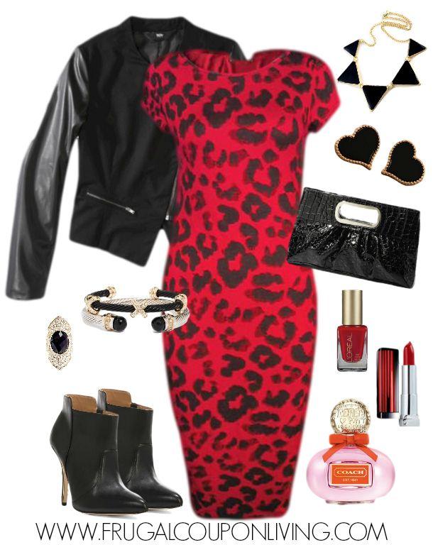 Cheetah b red dress 3x