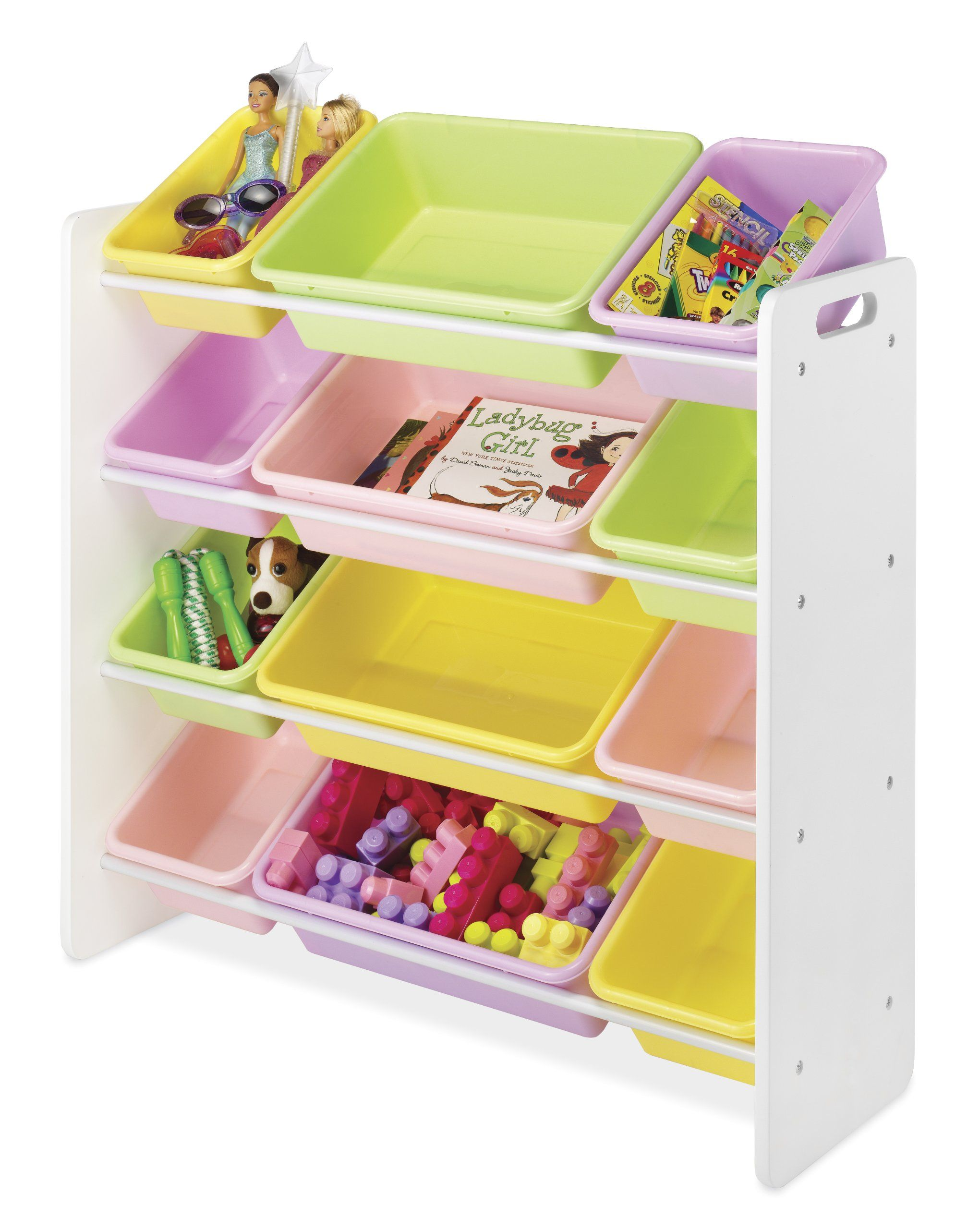 Amazon Com Whitmor 6436 2554 Ds 12 Bin Organizer Primary Toy Storage Organization Organizing Bins Toy Storage