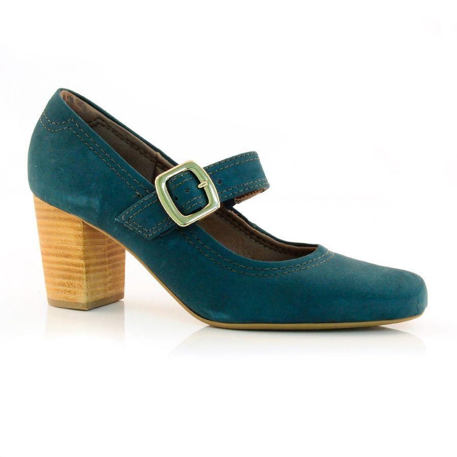 f24ad892e8 Sapato Scarpin Feminino Usaflex L2407-77 - VELOUR MILITAR - Calçados Online  - Frete e Troca Grátis