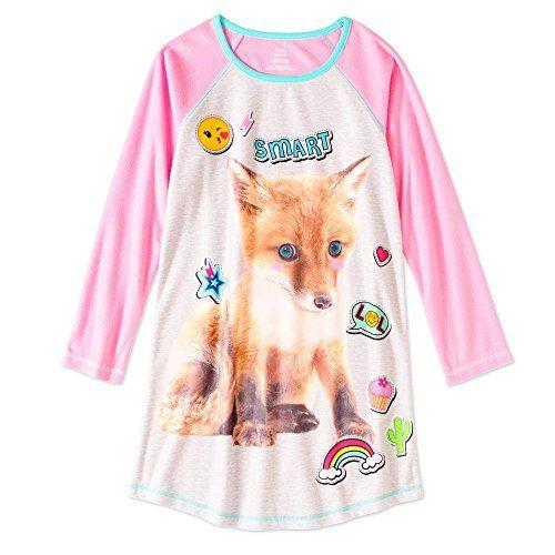 Smart Fox Nightgown- SOOOO cute for little girls! Generic Girls Graphic Pajama  Long Sleeve ... 639581641